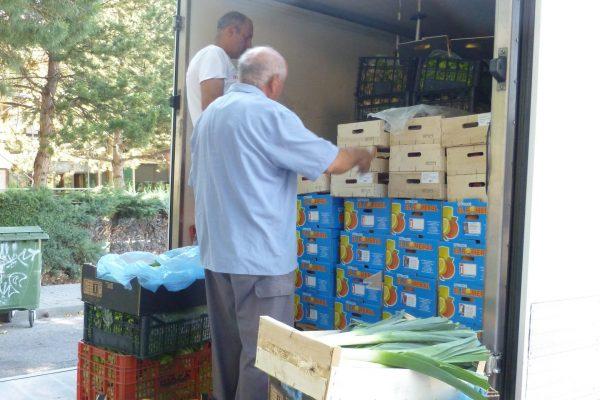 Reparto de alimentos a Instituciones necesitadas